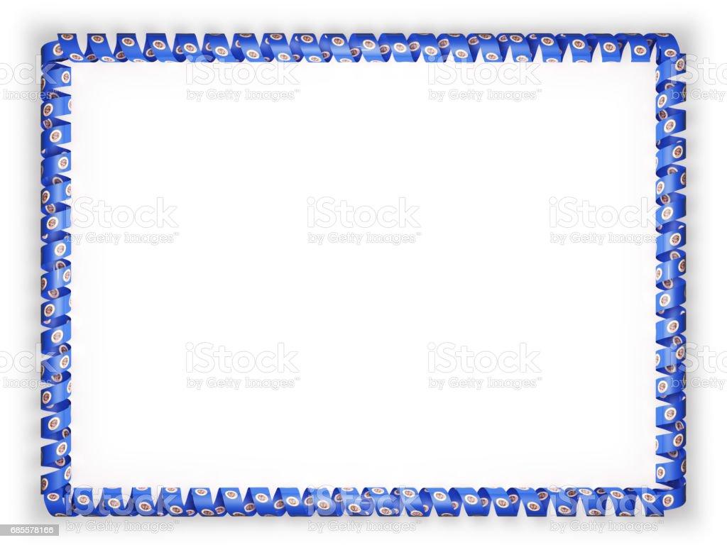 框架和絲帶系州明尼蘇達州旗,美國的邊境。3d 圖 免版稅 框架和絲帶系州明尼蘇達州旗美國的邊境3d 圖 向量插圖及更多 人 圖片