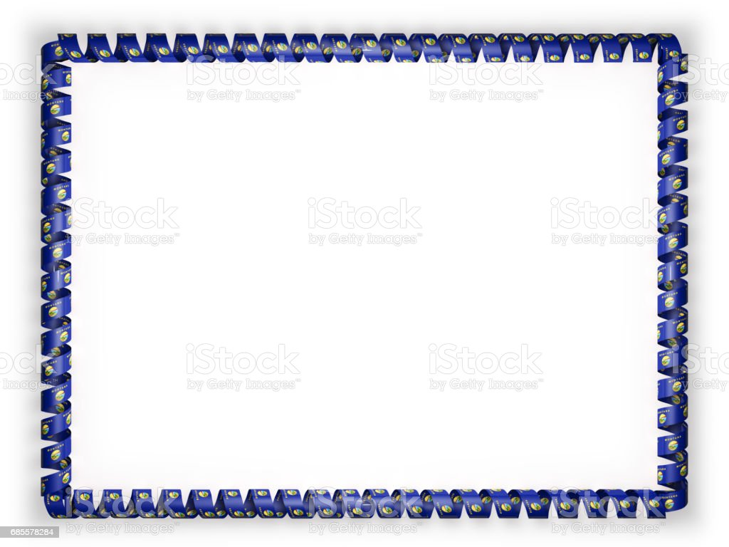 框架和絲帶系州蒙大拿州旗,美國的邊境。3d 圖 免版稅 框架和絲帶系州蒙大拿州旗美國的邊境3d 圖 向量插圖及更多 人 圖片