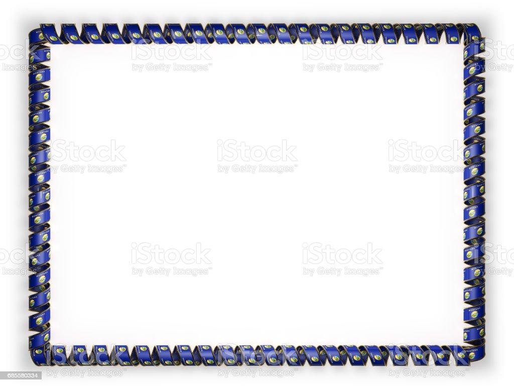 프레임과 리본 상태 몬타나 플래그, 미국, 황금 밧줄에서 테두리의 테두리. 3 차원 일러스트 레이 션 royalty-free 프레임과 리본 상태 몬타나 플래그 미국 황금 밧줄에서 테두리의 테두리 3 차원 일러스트 레이 션 공란에 대한 스톡 벡터 아트 및 기타 이미지