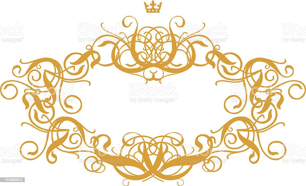 Frame Baroque III royalty-free frame baroque iii stock vector art & more images of antique