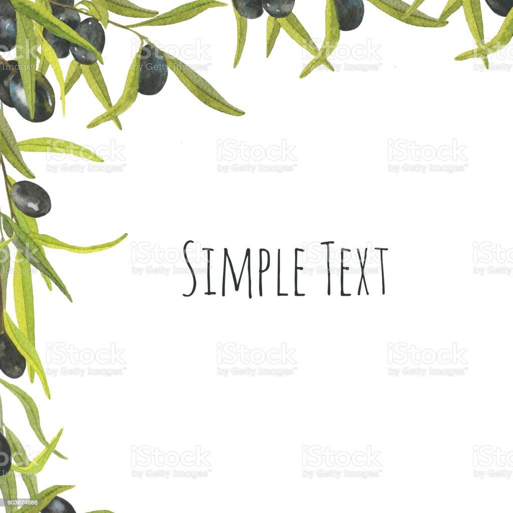 Royalty Free Olive Olive Tree Olive Branch Frame Clip Art