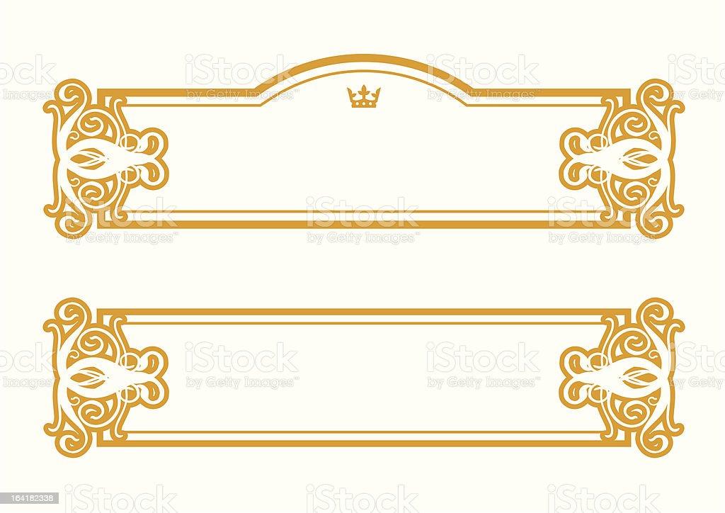 Frame Empire I royalty-free stock vector art