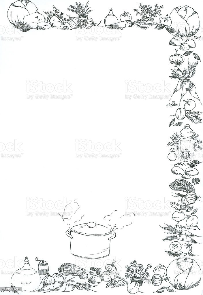 Frame For Cooking Recipe Stock Vector Art & More Images of Black ...