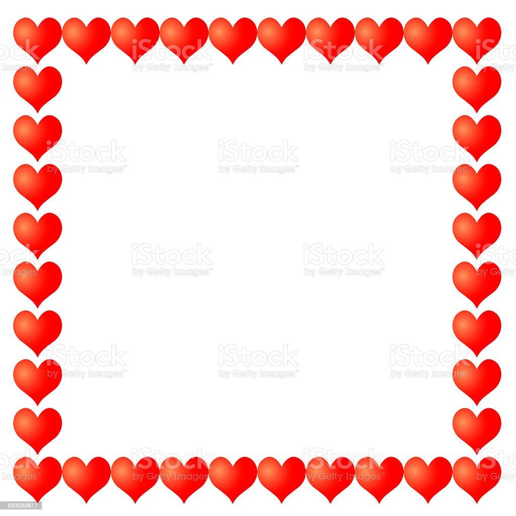 frame from hearts vector art illustration