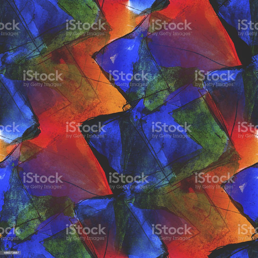 frame graphic style palette orange, blue seamless picture textur royalty-free stock vector art