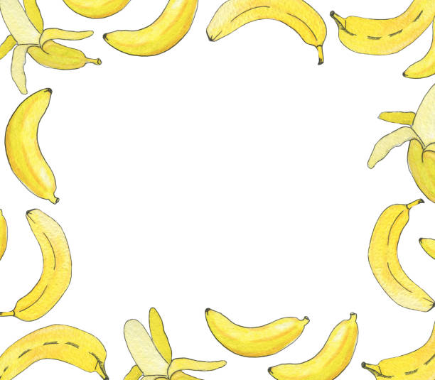 Royalty Free Banana Frame Clip Art, Vector Images & Illustrations ...