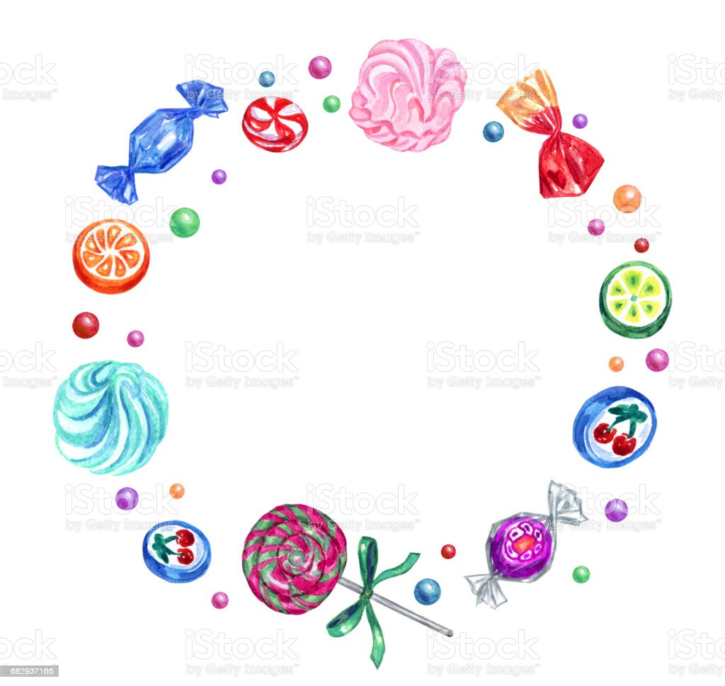 A frame of sweets royalty-free a frame of sweets stock vector art & more images of candy