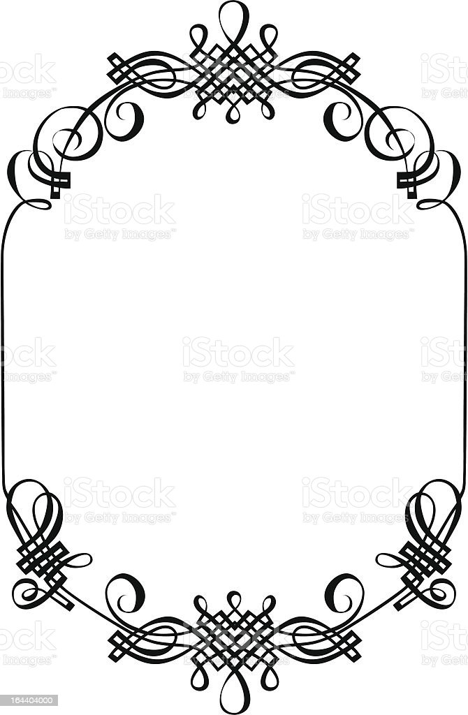 frame ornament stock vector art more images of art and craft