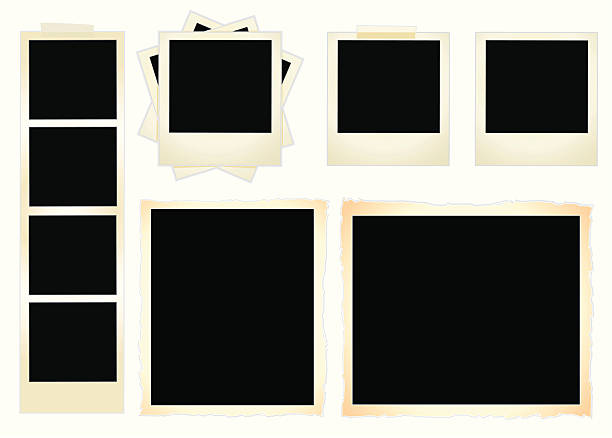 frame set - photo booth stock illustrations, clip art, cartoons, & icons