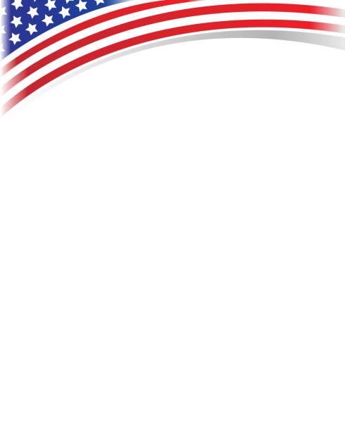 Vague de châssis drapeau USA - Illustration vectorielle