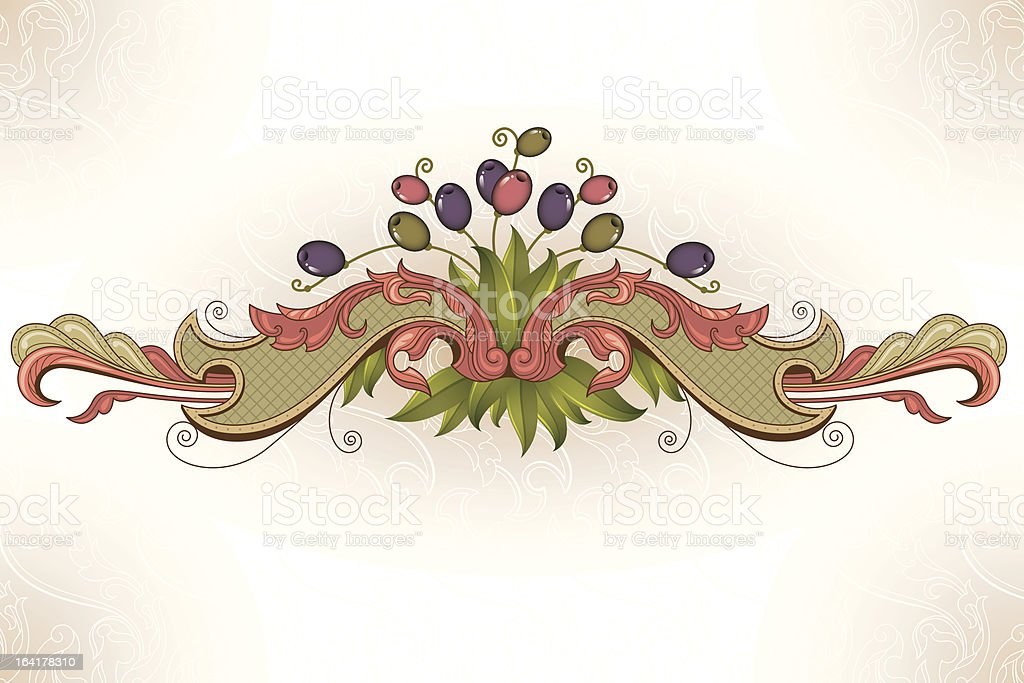 Frame with olives royalty-free frame with olives stock vector art & more images of art