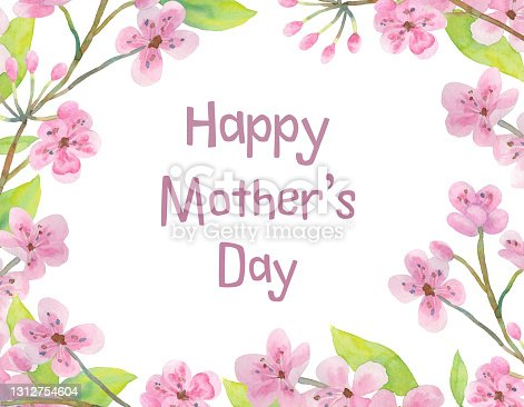 istock Frame with text. Greeting card for mom's day. 1312754604