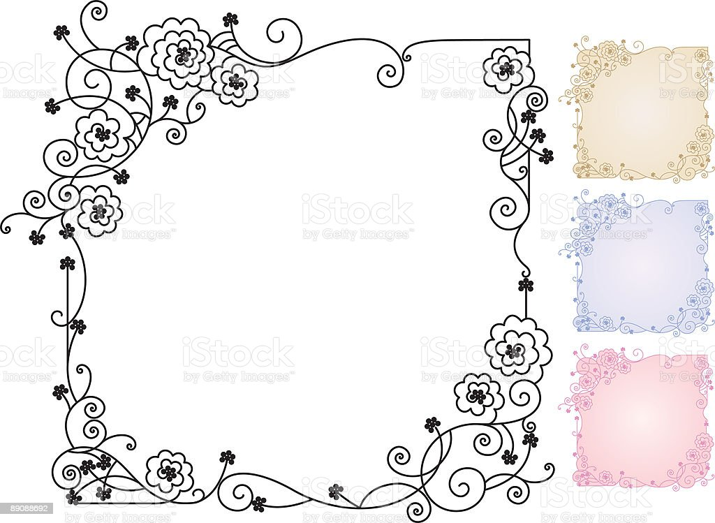 Framed Roses royalty-free framed roses stock vector art & more images of abstract