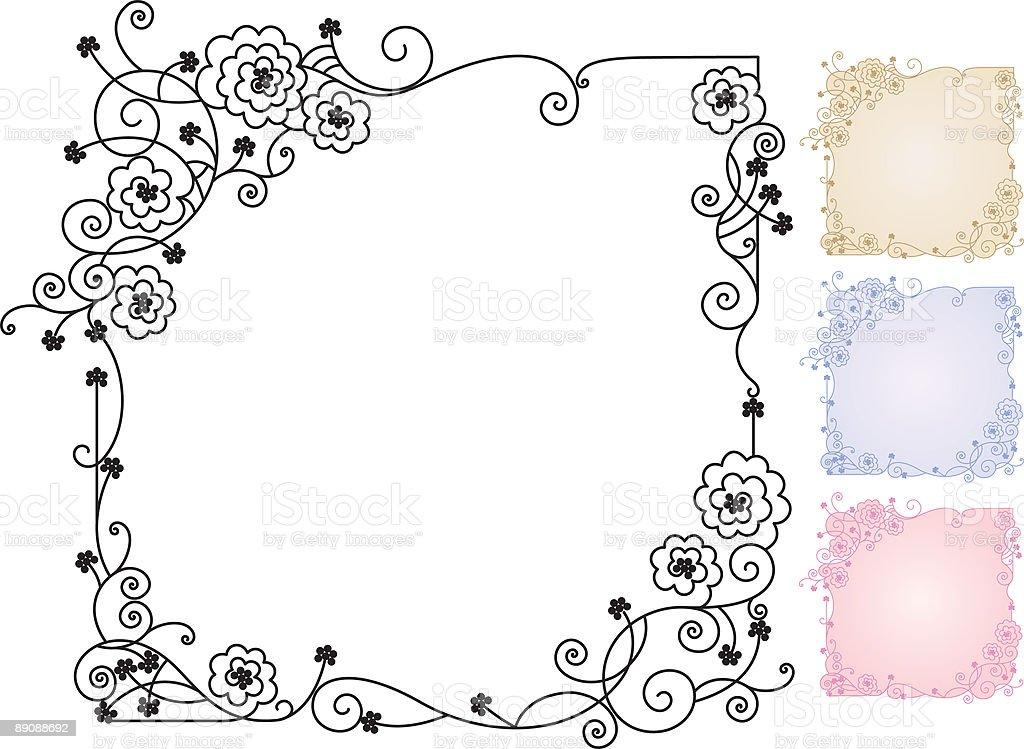Framed Roses royalty-free stock vector art