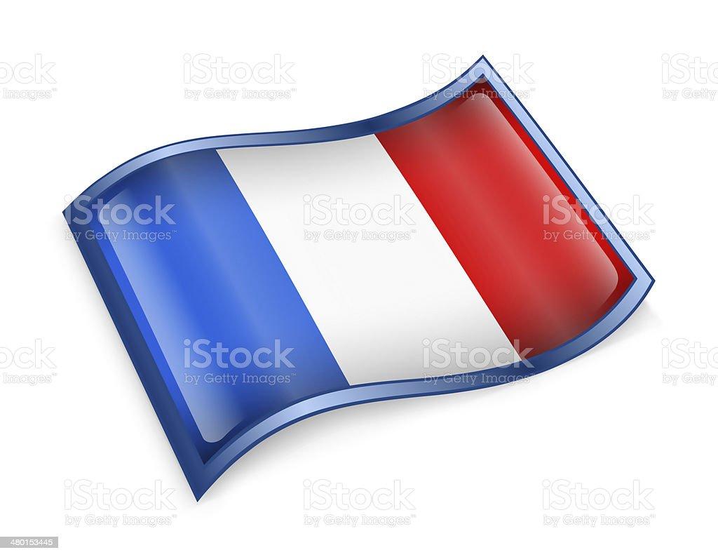 France Flag Icon vector art illustration