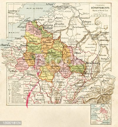 Map from La Premiere Annee  de Geographie par P. Foncin - Paris 1887
