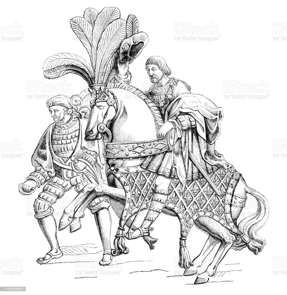 Francis I King Of France Riding Horse 1520 Illustration Stock Illustration Download Image Now Istock