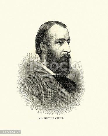 istock Francis Jeune, 1st Baron St Helier, Victorian British Judge 1177454178
