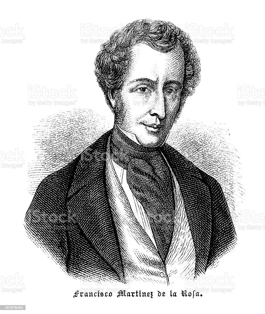 Francisco Martinez De La Rosa Antique Engraved Portrait Stock Illustration Download Image Now Istock