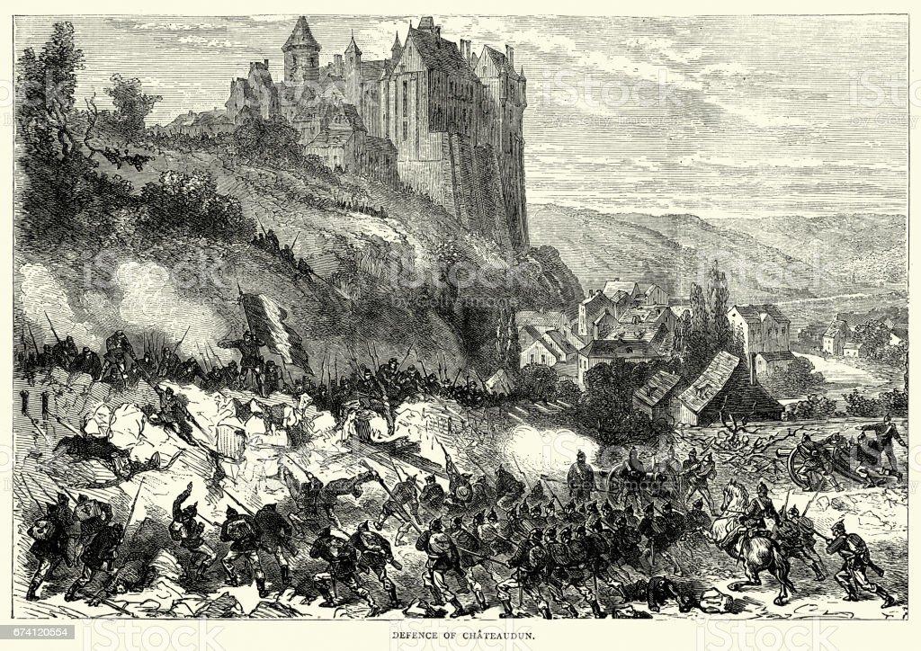 Franco Prussian War - Battle Of Chateaudun 免版稅 franco prussian war battle of chateaudun 向量插圖及更多 1870-1879 圖片