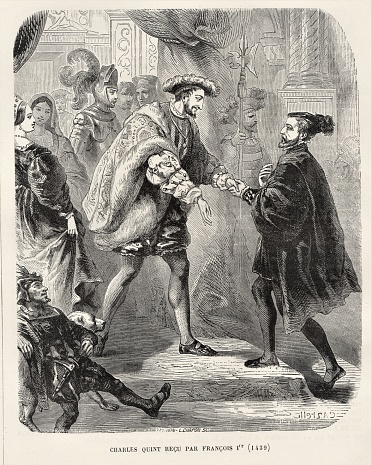 Francois 1st Greets Charles Quin, French History