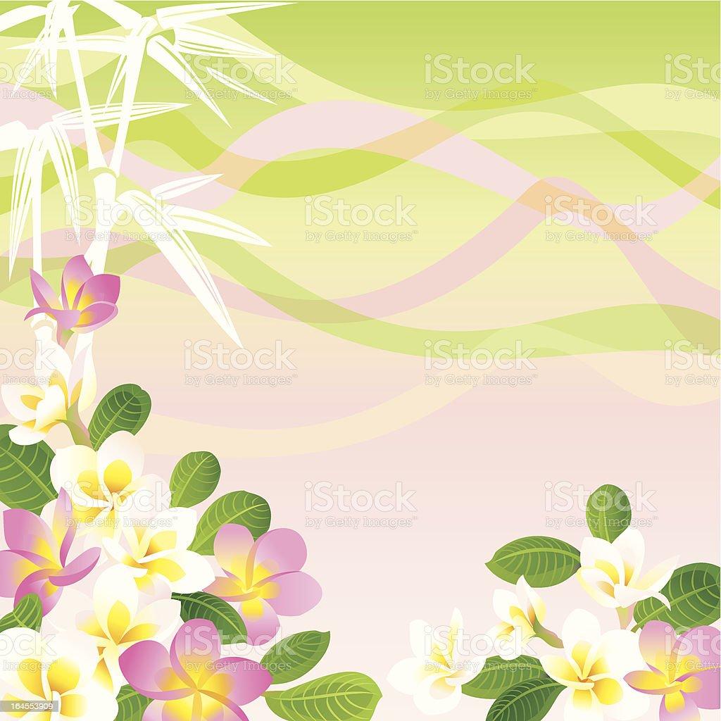 Frangipani Background royalty-free stock vector art