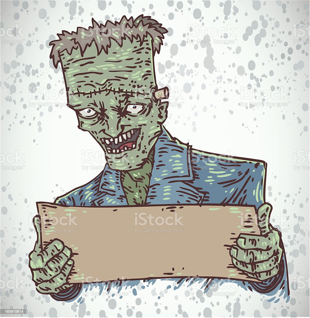 frankenstein banner vector art illustration
