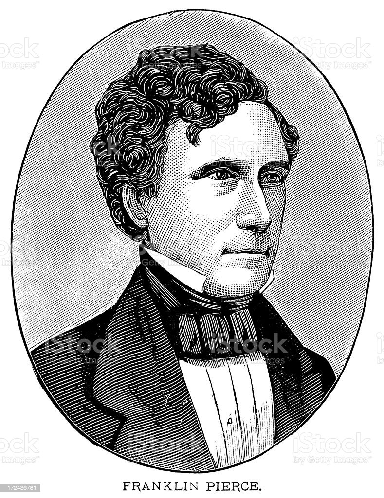 Franklin Pierce royalty-free franklin pierce stock vector art & more images of 19th century