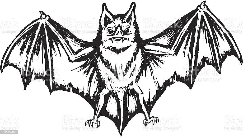 Freaky Halloween Bat royalty-free stock vector art