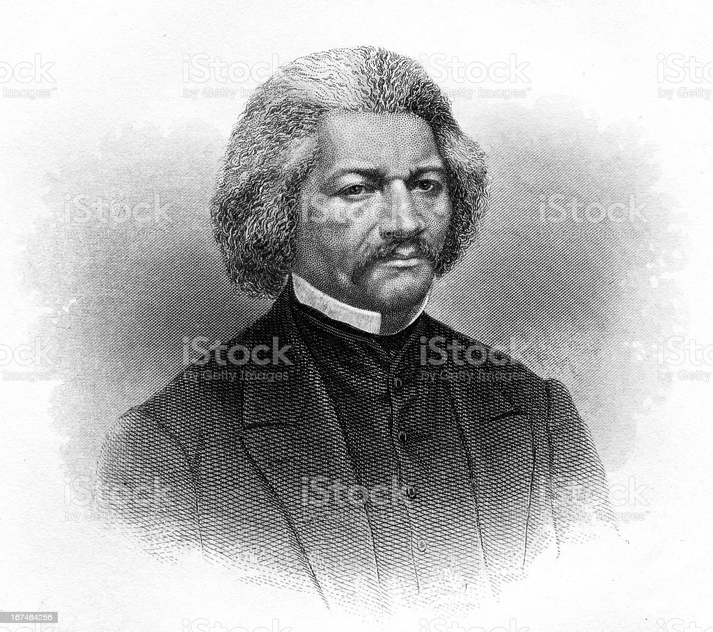 Frederick Douglass vector art illustration