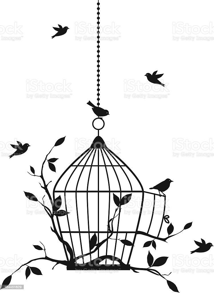 free birds, vector vector art illustration