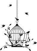 free birds, vector