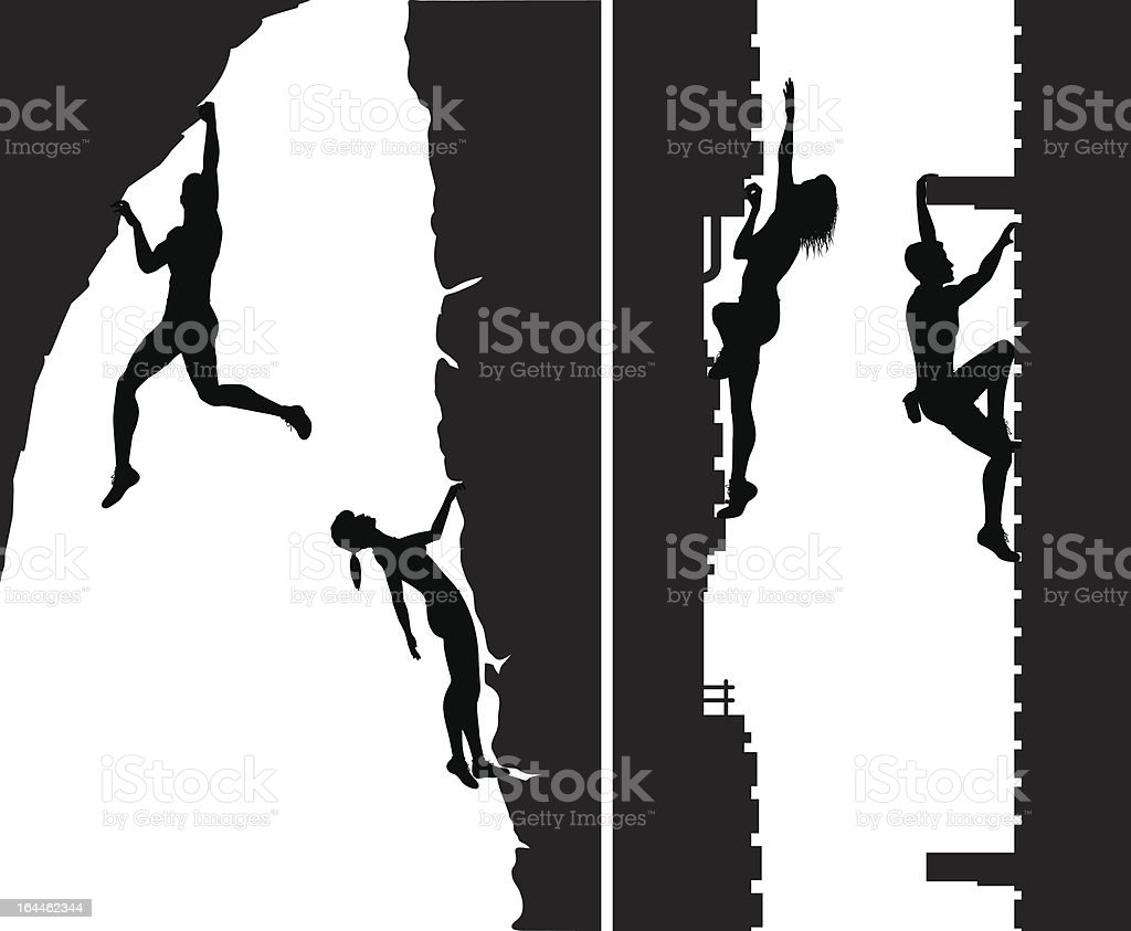 Free climber - illustrazione arte vettoriale