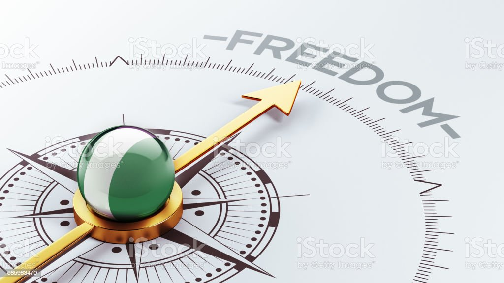 Freedom Concept vector art illustration