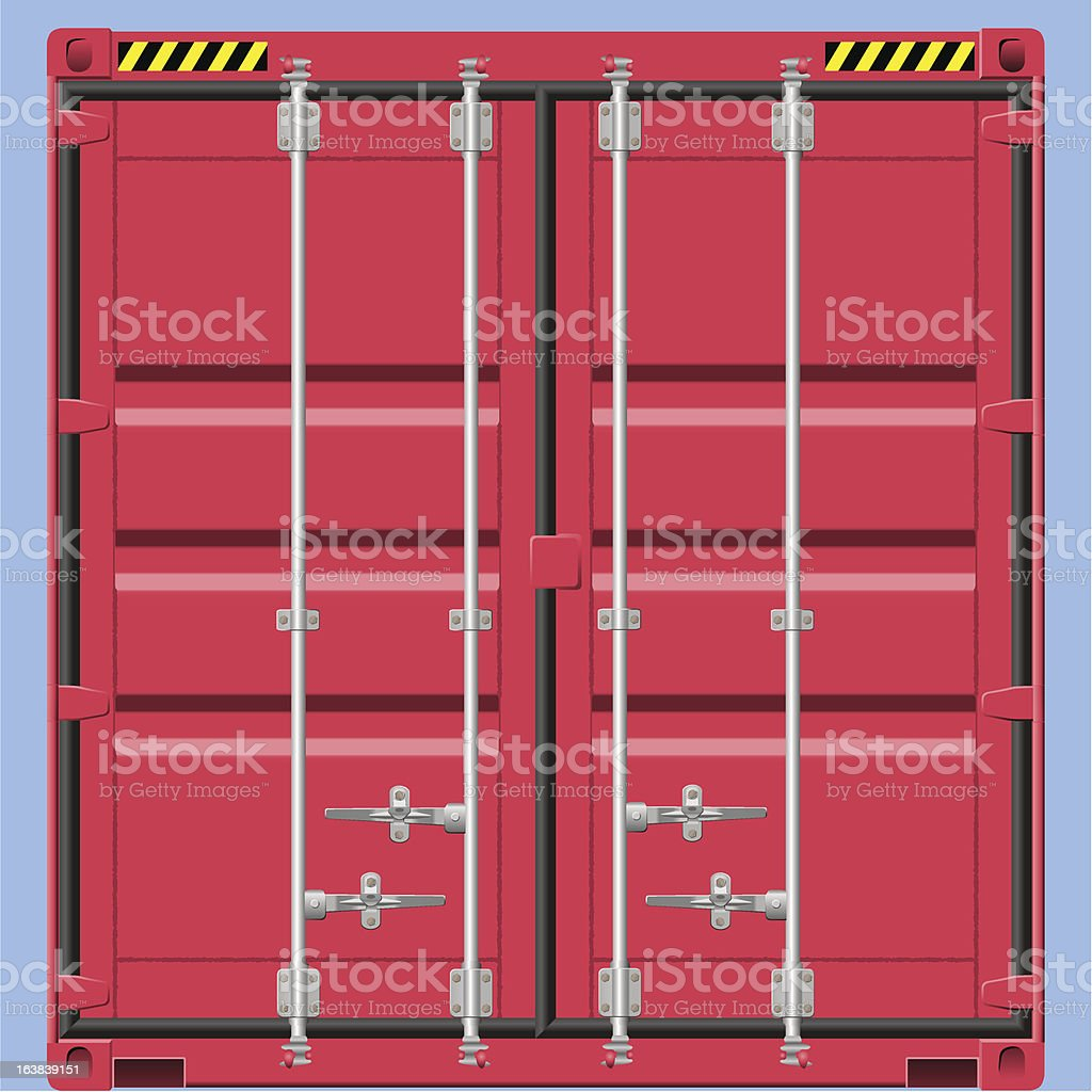 Freight Container royalty-free stock vector art