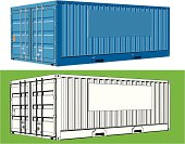 """""""Two versions of a freight/cargo container, with space for a company logo"""""""