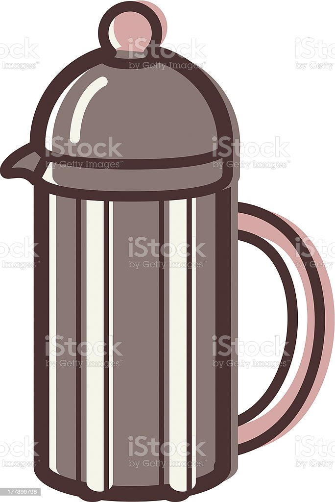 french coffee press royalty-free stock vector art