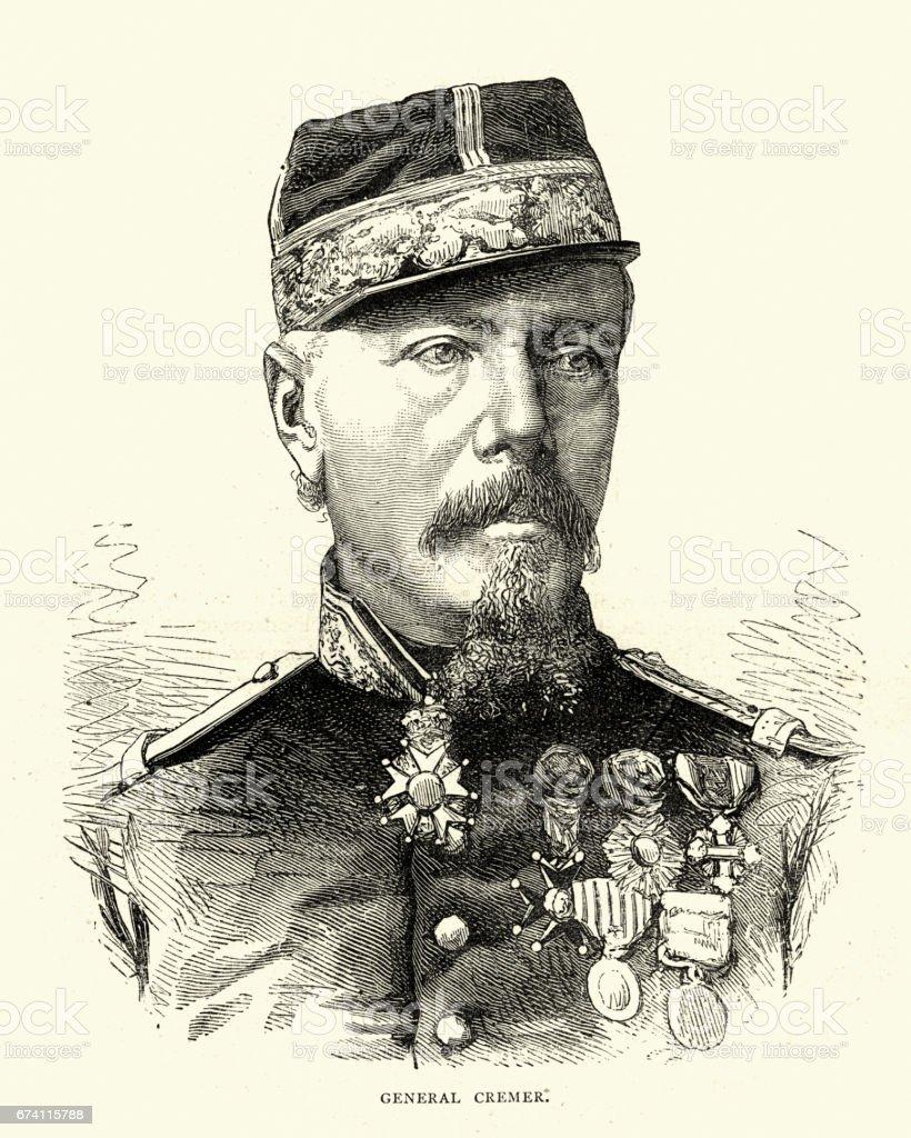 French General Camille Cremer 免版稅 french general camille cremer 向量插圖及更多 1870-1879 圖片