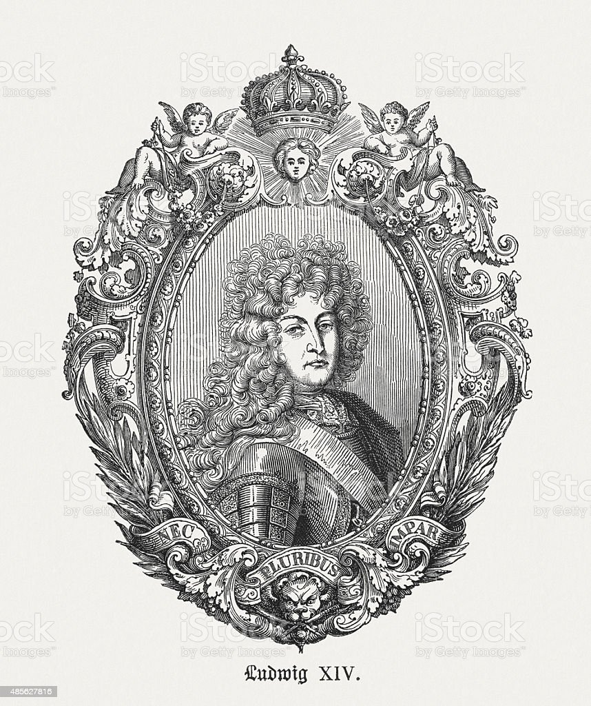 French King Louis Xiv Published In 1878 Stock Vector Art More