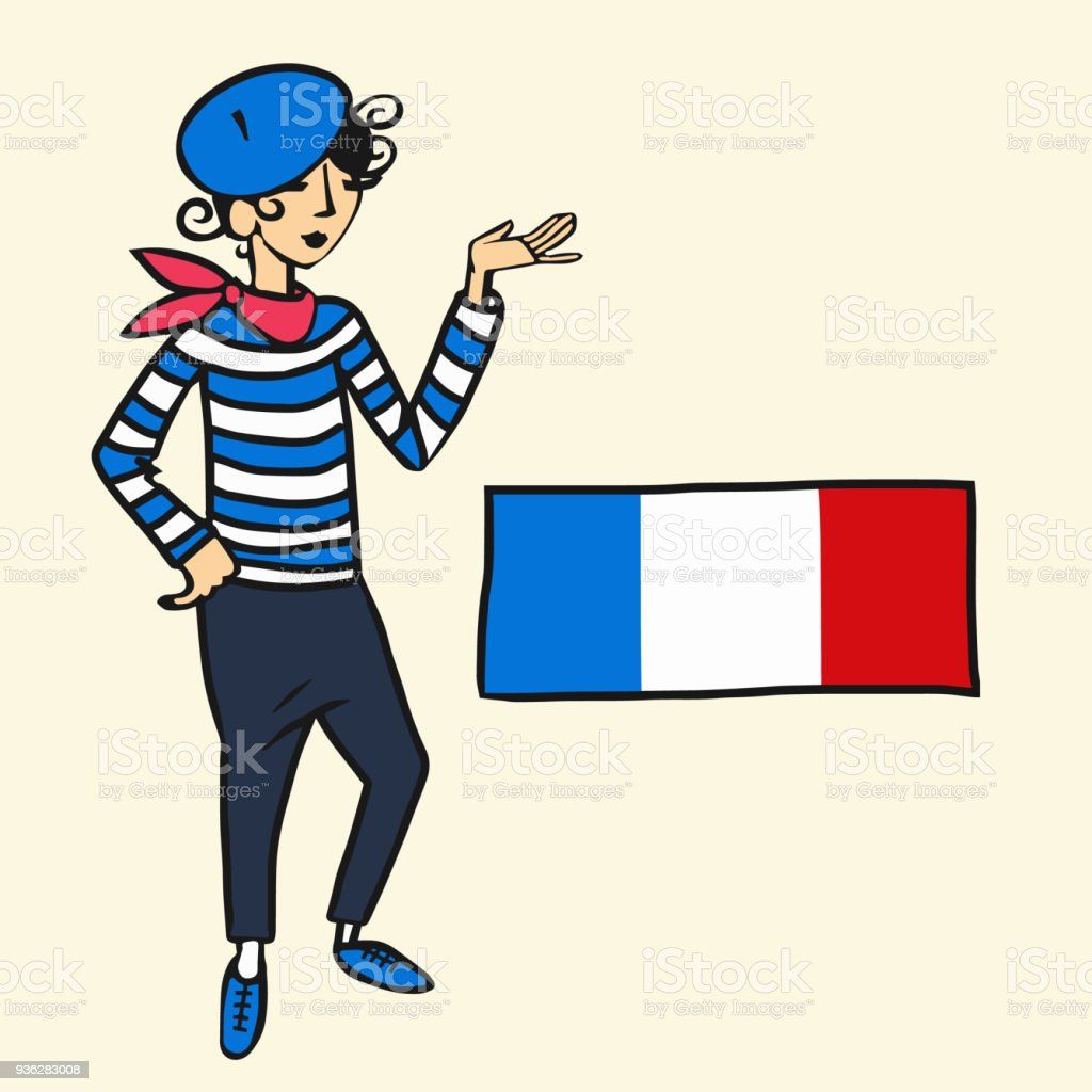 royalty free frenchman clip art vector images illustrations istock rh istockphoto com French Culture French Woman Clip Art