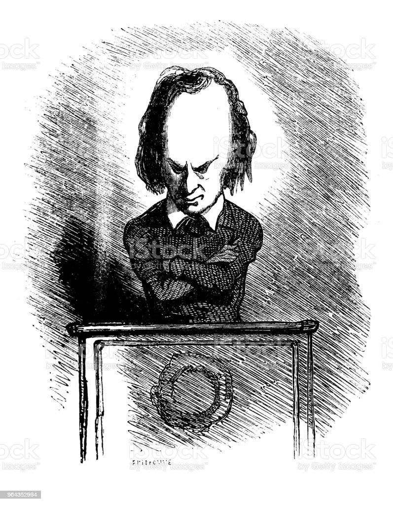 Sátira de políticos franceses caricatura de quadrinhos desenhos animados ilustrações - Ilustração de Adulto royalty-free