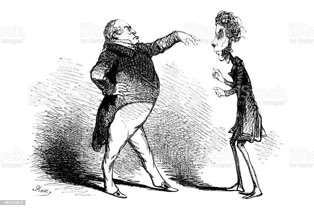 Franse politici satire karikaturen strips cartoon illustraties - Royalty-free 19e eeuw Stockillustraties
