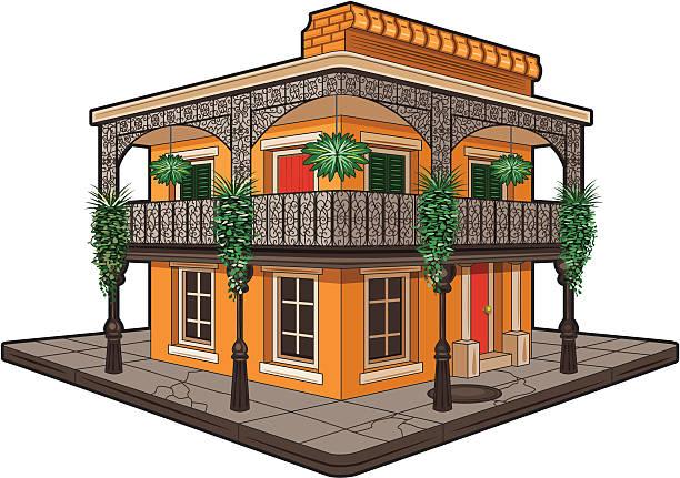 ilustrações de stock, clip art, desenhos animados e ícones de distrito francês canto edifício - ivy building