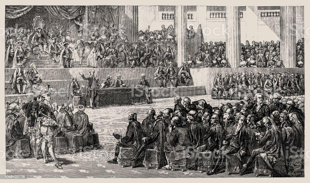La révolution Français - les États généraux ou États généraux de 1789 était la première réunion depuis 1614 des États généraux Français, une Assemblée générale représentant les actifs Français du Royaume - Illustration vectorielle