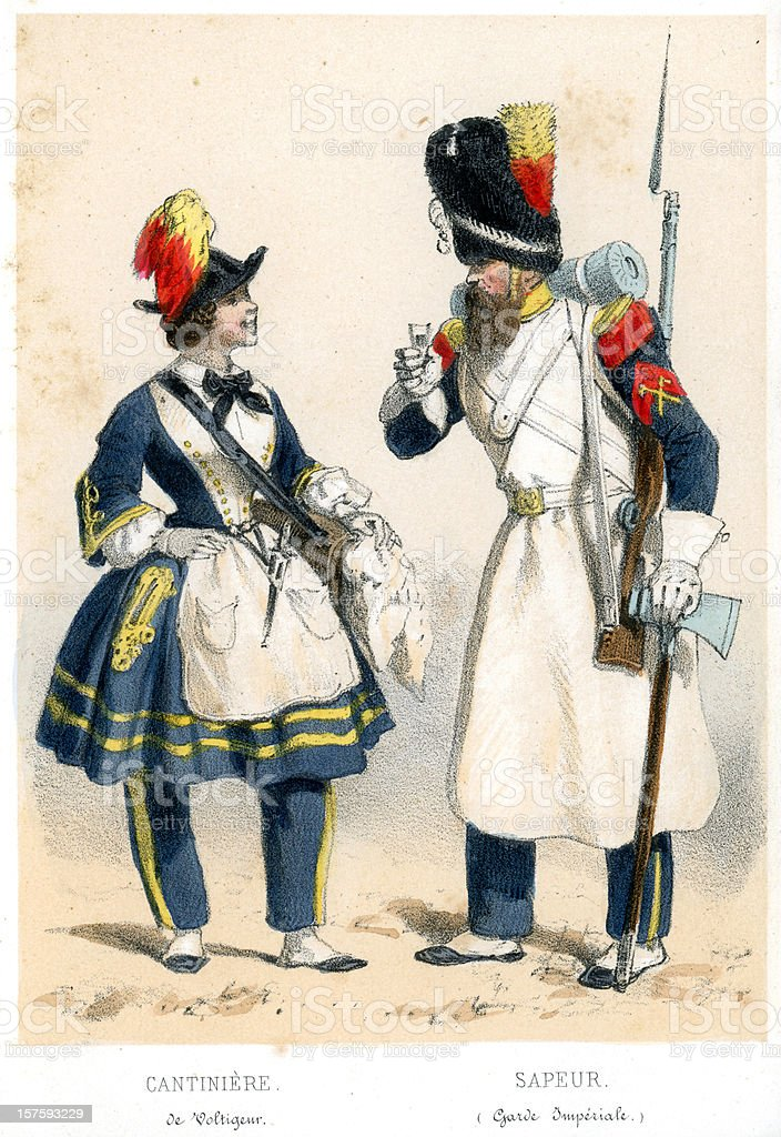 French soldiers of the 19th century royalty-free french soldiers of the 19th century stock vector art & more images of 1850-1859