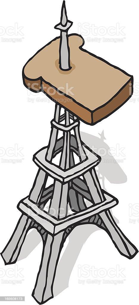 French toast vector art illustration