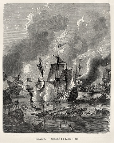 French Victory at Battle of Lagos 1693, Nine Years' War, 17th Century French & European History