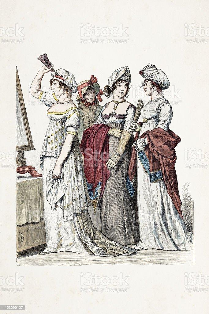 Franzosische Frau Mit Traditioneller Kleidung Aus Dem 19 Jahrhundert Stock Vektor Art Und Mehr Bilder Von 19 Jahrhundert Istock