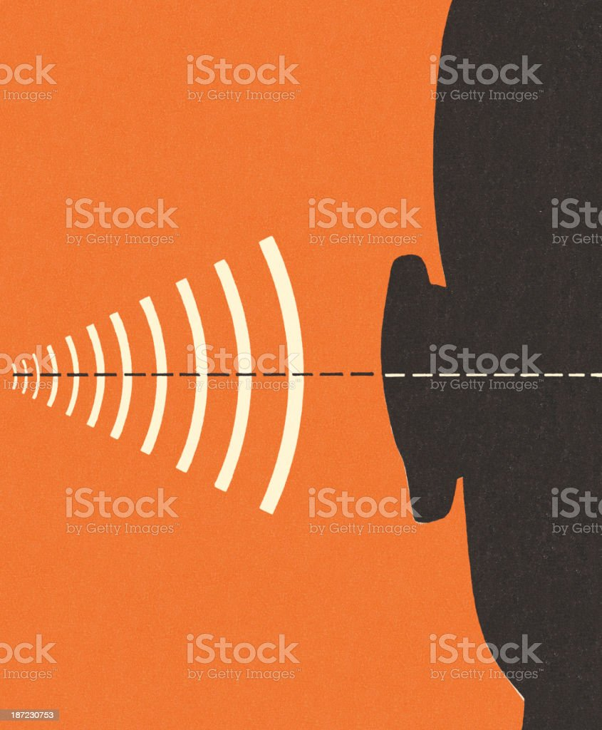 Frequency and Hearing vector art illustration