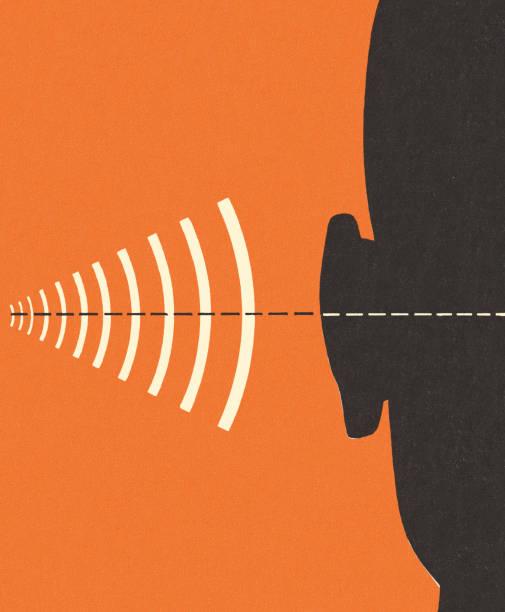 bildbanksillustrationer, clip art samt tecknat material och ikoner med frequency and hearing - listen
